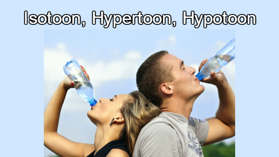 Hypotoon, Isotoon, hypertoon