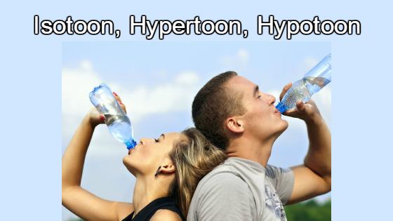 Hypotoon, Isotoon, hypertoon