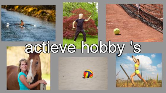 actieve hobby