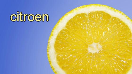 citroen vrucht