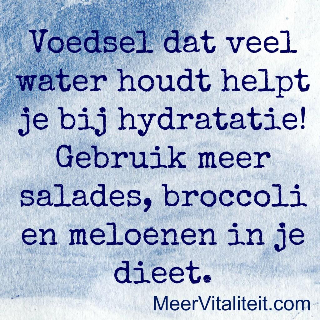 voeding en hydratatie